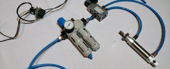 Como realizar un sistema neumático para el accionamiento de un cilindro